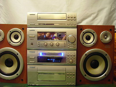 Sanyo Hi-Fi System with Mini Disc and Speakers Model MDG-X5