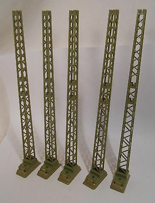 Marklin 7021 Catenary Tower Masts With Bases (5 Pieces)