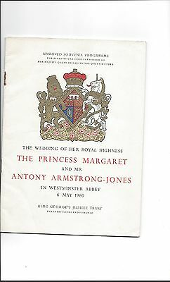 Officially Approved  Souvenir Programme of Princess Margaret's Wedding, May 1960