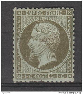 N° 19 NAPOLEON III 1c olive signé, neuf * avec charnière , cote Y & Tellier 240€