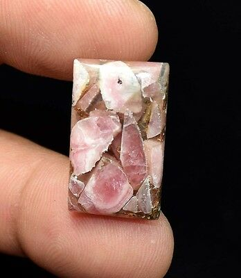 Excellent !  18.60  Cts. Natural Copper Rhodochrosite Cushion Cab For  Pendant