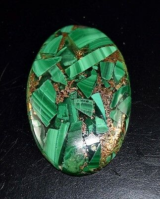 Gorgeous 36.10 Cts. Natural Copper Malachite Oval Cabochon Loose Gemstones