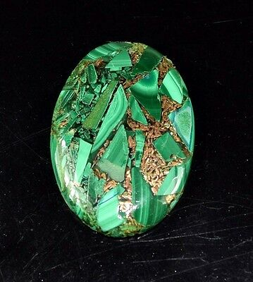 Gorgeous 34.05 Cts. Natural Copper Malachite Oval Cabochon Loose Gemstones