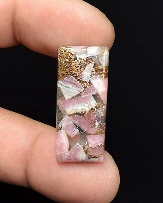 Excellent !  18.20  Cts. Natural Copper Rhodochrosite Cushion Cab For  Pendant