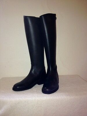 Riding Boots Black Leather New Size 40 UK 6.5