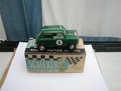 Vintage ~ 1967 Scalextric C7 Mini Cooper Rally In Working Order