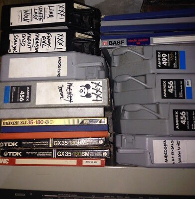 """lot 8 bandes 24 pistes 24 tracks 2"""" tapes Ampex 456 499 used once"""
