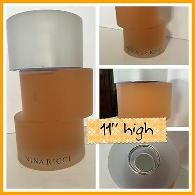 Giant RARE Nina Ricci Premier Jour 2001 Store Frosted Display Bottle FACTICE