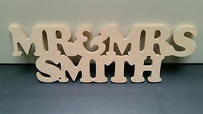 wedding gift personalised mr & mrs + surname table decoration sign