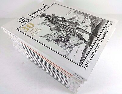 Lot (16) ITG JOURNAL Magazines // Various Years (2000's-2010's) Trumpet Guild