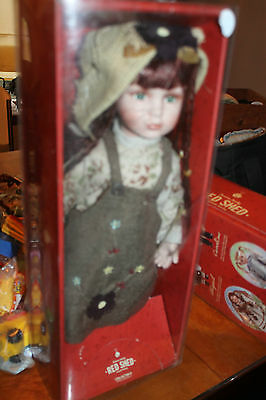 """18"""" Red Shed Doll, w/ tags, in box, Abigail, Porcelain doll L@@K"""