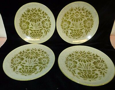 """Vintage Red Wing """"Damask"""" Salad Plates - VERY NICE!!"""