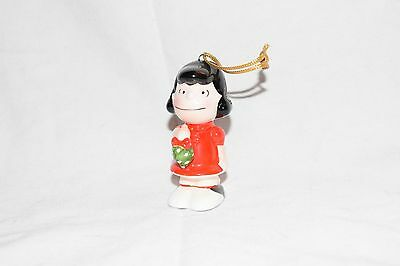 Vintage Rare Peanuts LUCY with Mistletoe Ceramic Christmas Ornament - 1952