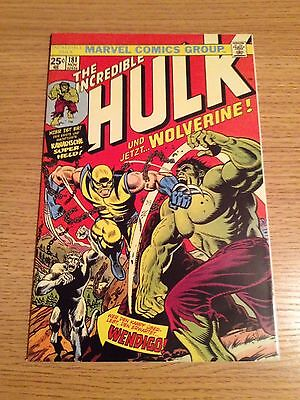 Marvel The Incredible Hulk #181 Gold Seal Iconic Cover Euro Variant