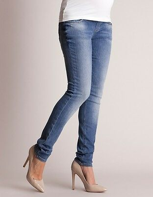 Seraphine Light Wash Under Bump Maternity Skinny Jeans Size 10