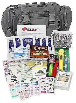 Camillus First Aid 3 Day Survival Kit with Emergency Food and Water, Black 73