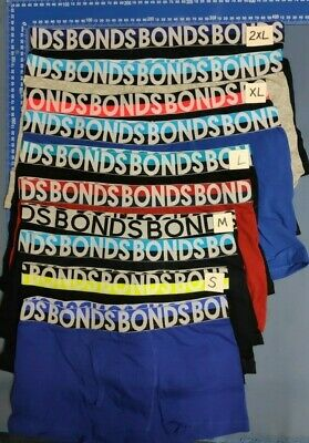 6 X MEN'S BONDS UNDERWEAR Fly Front Trunks Boxer Cotton Bulk Size S-XXL