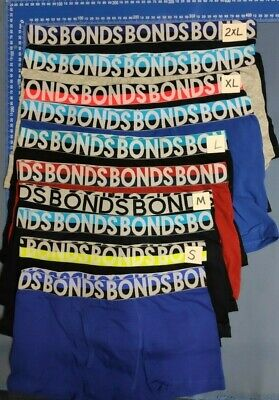 6 X MENS BONDS UNDERWEAR Trunks Briefs Boxer Cotton Bulk