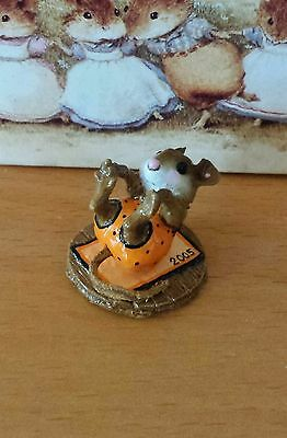 """Wee Forest Folk  M-260 """"Roly-Poly"""" orange polka dots SPECIAL Mint"""