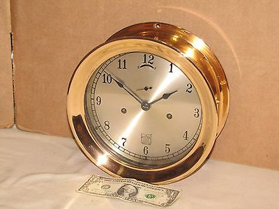 "Seth Thomas Antique Ships Clock~Red Brass ~8 1/2"" Dial~Ww2~1941~Chelsea Key"