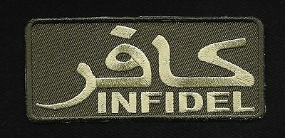 Arabic Infidel Iron-On Motorcycle Morale Military Biker Patch - Od