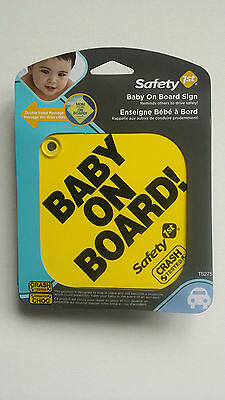Safety 1st, Foam, Baby On Board/Mom To Be Sign with Suction Cup, Yellow, TS275