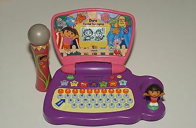 dora computer and microphone laptop educational fun toy