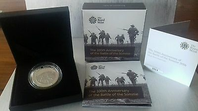 Royal Mint 100th Anniversary Battle of the Somme  £5 Silver Proof Coin 2016
