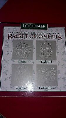Longaberger Basket Pewter Ornaments 1997 Bayberry Jingle Bell Cranberry Cheer