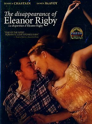 NEW DVD // THE DISAPPEARANCE OF ELEANOR RIGBY // JESSICA CHASTAIN, JAMES McAVOY
