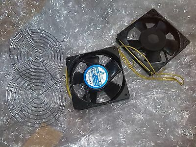 Fulltech Server Cabinet 220V Metal Axial Cooling Fans qty:2 and grilles