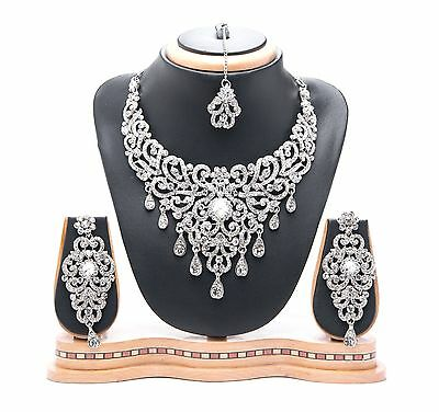 Asian Indian Bollywood Bridal Fashion Costume Party Wear Jewellery with Earrings