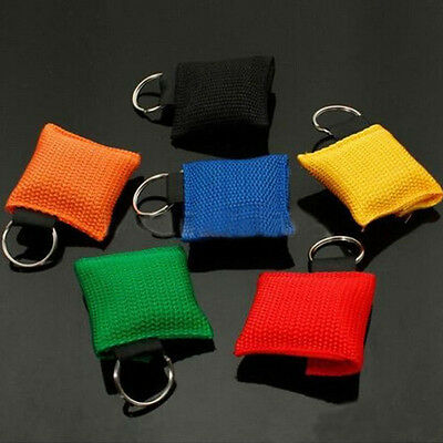 Keychain Rescue First Aid Mask CPR Resuscitator Key Ring Face Shield