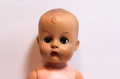 "Unmarked ~ Vintage Cute 8"" Ginnette Baby Doll Sleep eyes molded hair"