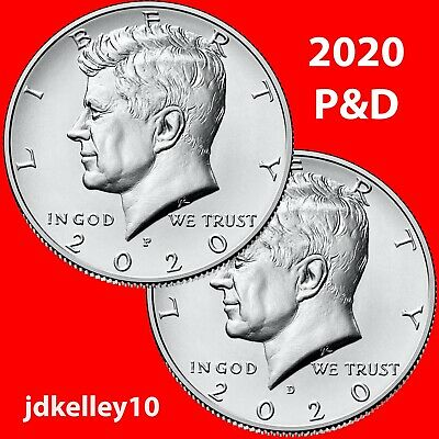 2017 P&d Kennedy Half Dollar 2 Coin Set - Uncirculated Coins Us Mint