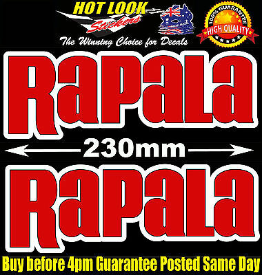 Rapala Fishing Boat Stickers for 4X4 Caravan Camping Tandem Trailer Fridge Kayak