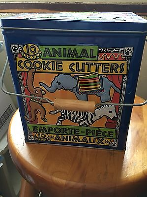 ANIMAL COOKIE CUTTERS (10) Tin 2003