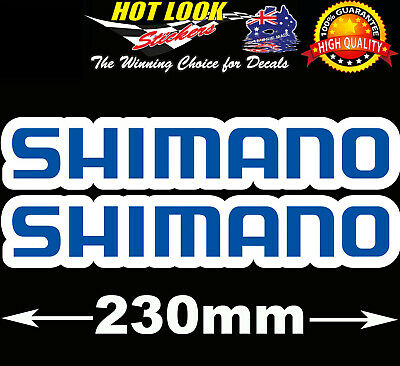 SHIMANO Fishing Boat Stickers 4X4 Caravan Camping Tandem Trailer Fridge Kayak