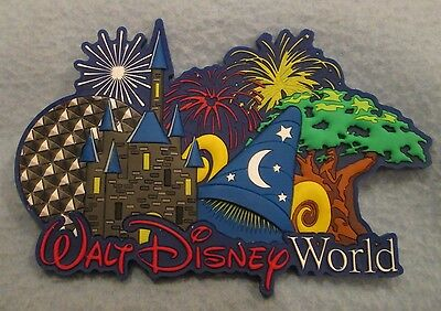 Large Walt Disney World Florida Laser Cut Rubber Magnet, Souvenir Travel Fridge