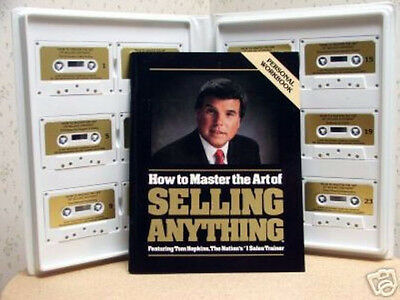Tom Hopkins - How To Master The Art Of Selling Anything - 12 Tapes - $195 Msrp