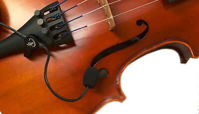 """""""THE FEATHER"""" VIOLIN PICKUP, with FLEXIBLE GOOSENECK, VIOLIN, Myers Pickups"""