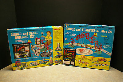 Rare 1958 'kenner's' 'girder And Panel' & 'bridge And Turnpike' Building Sets