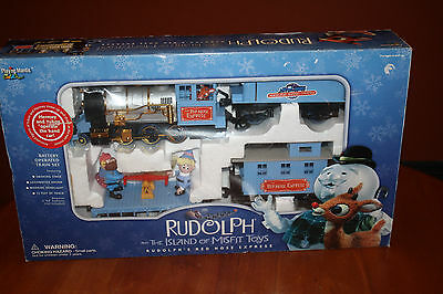 Rudolph's Red Nose Express Christmas Train Island of Misfit Toys Playing Mantis