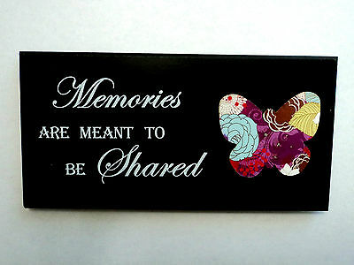 """Wooden decorating plates """"Memories are meant to be Shared"""""""
