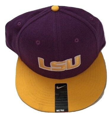 23f14bce834 NIKE NWT LSU Tigers Purple True Vapor Performance Fitted Hat Size 7 ...