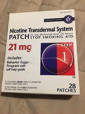 Habitrol Nicotine Patch Transdermal System 28 Count 21 mg Step 1 expires 03/2017