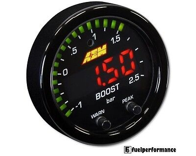 AEM serie X Boost Pressione Manometro Con Display -30 in/Hg~35psi 1~2.5bar
