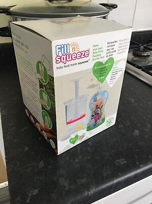 Fill n Squeeze Weaning Pouches Starter Park Includes 4 Pouches