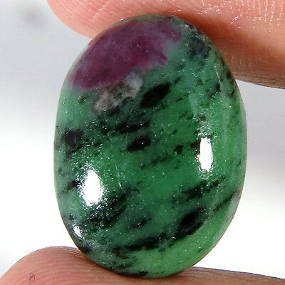 21.00CT Oval Natural Designer Ruby Zosite Loose Gemstone Aura.Gems