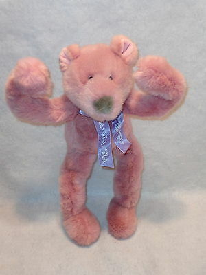 Mary Meyer FUNNY BONES Pink TEDDY BEAR Fully POSABLE Bendable1995 Exc. Cond